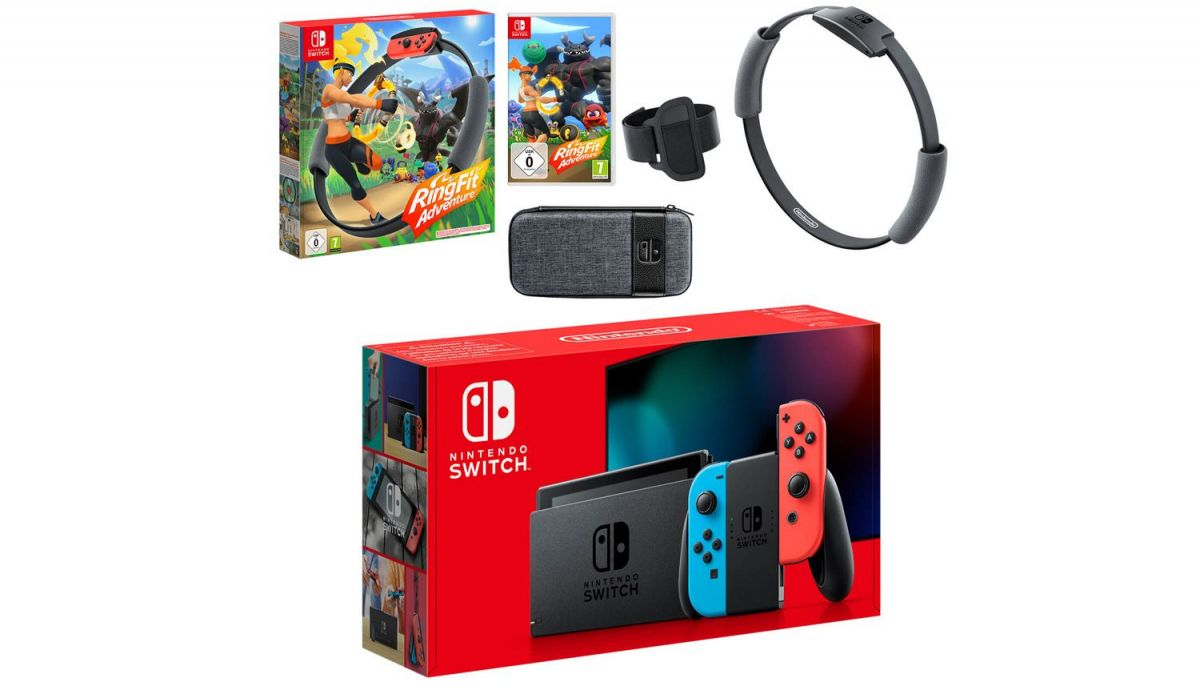 Nintendo Switch con Ring Fit Adventure