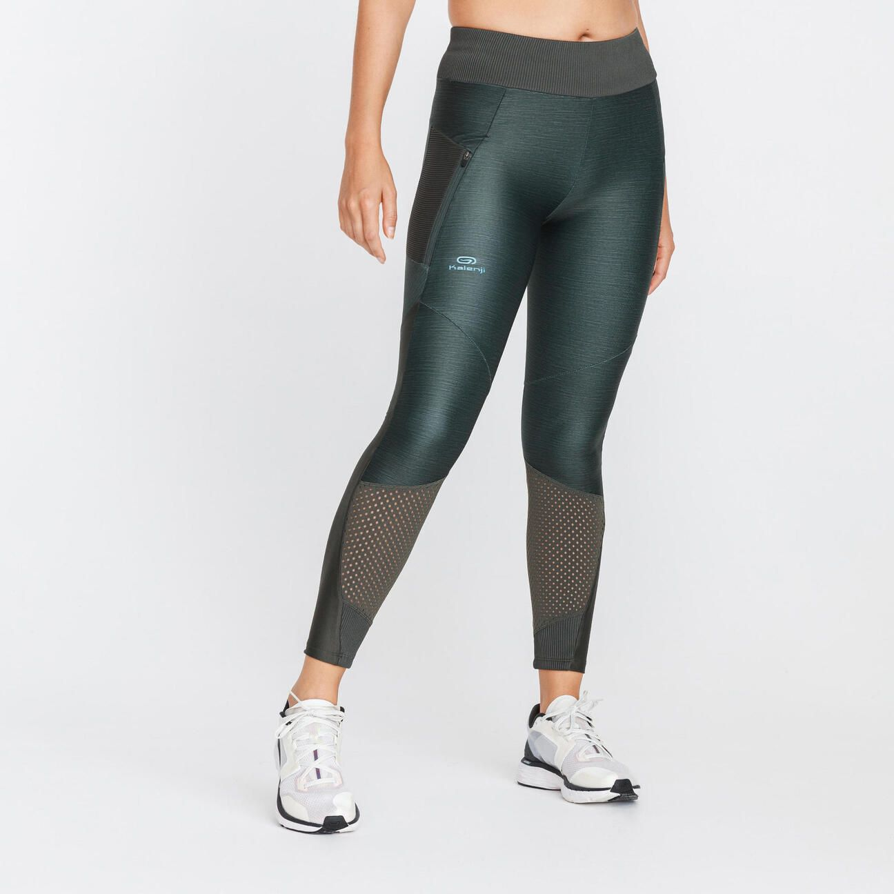 leggings run dry feel mujer caqui