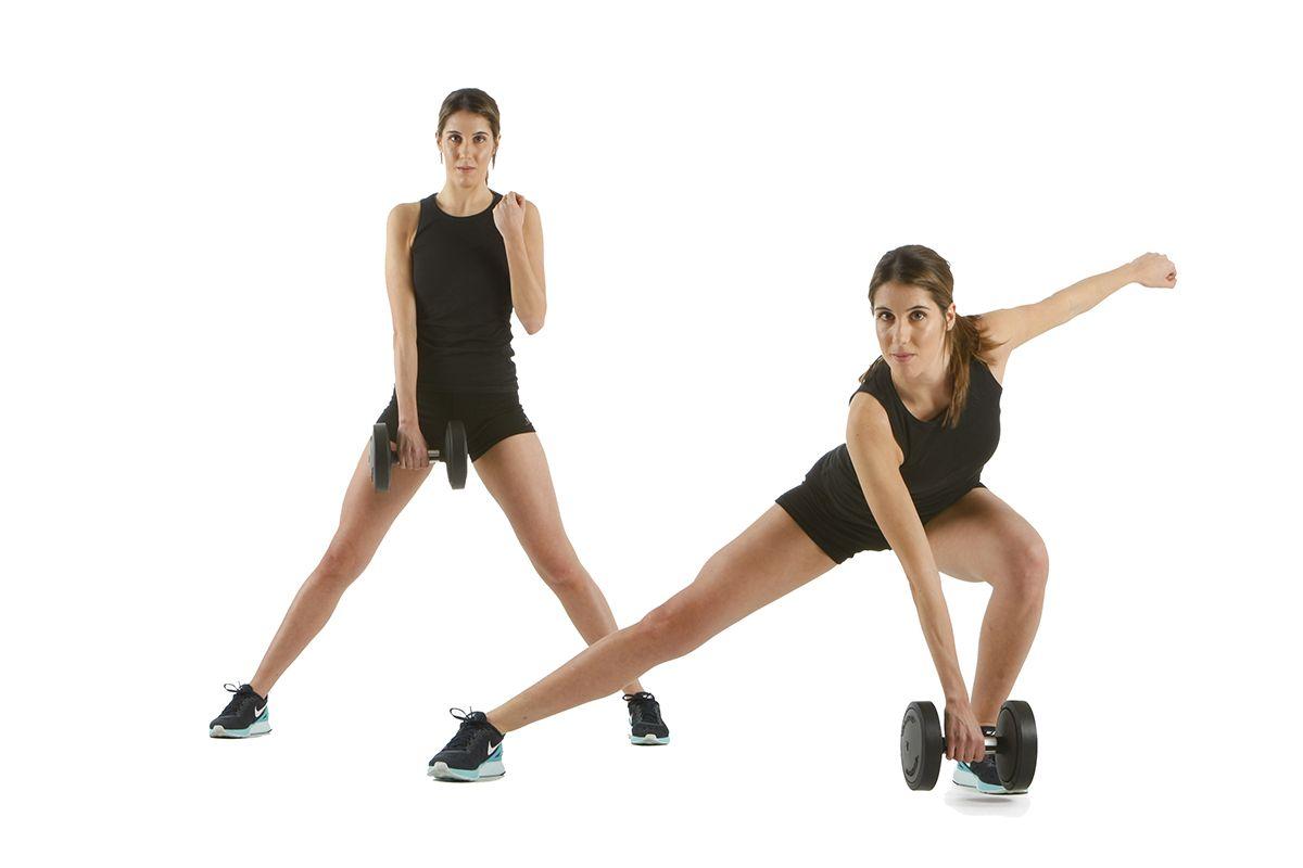 mujer squat lat