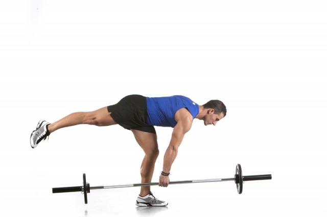 Ejercicio elevación pierna