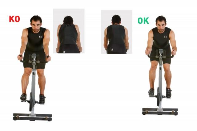 Brazos extendidos vs brazos flexionados
