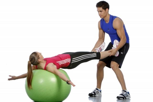 Colocar sobre fitness ball