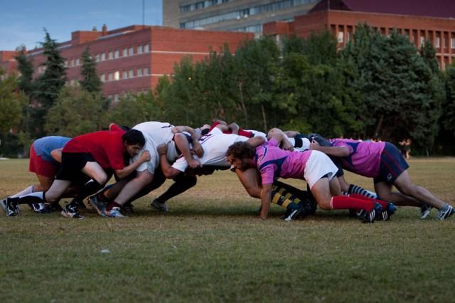 Rugby melé