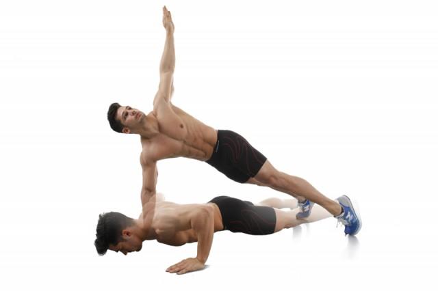 Core movimiento con giro entrena profesión