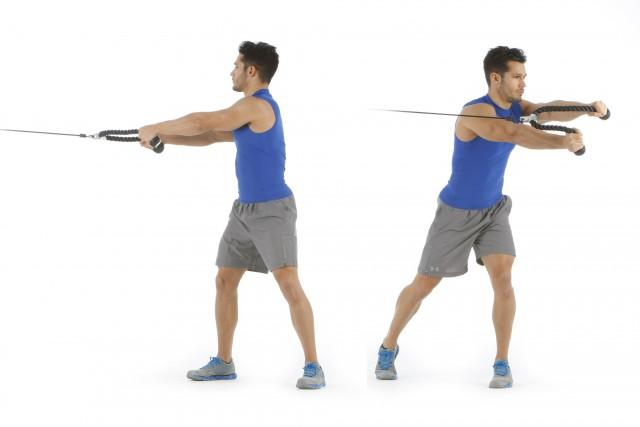 Abdominales ejercicio polea tensores press