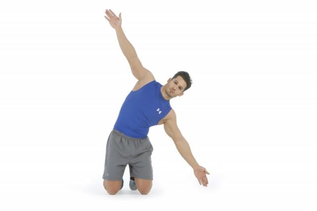 Abdominales inclínate estirar cadena lateral