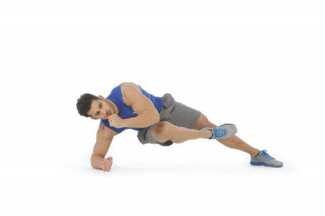 Abdominales plancha lateral tocar codo rodilla contraria