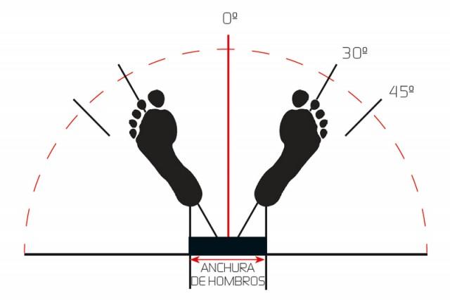 Anchura hombros squat