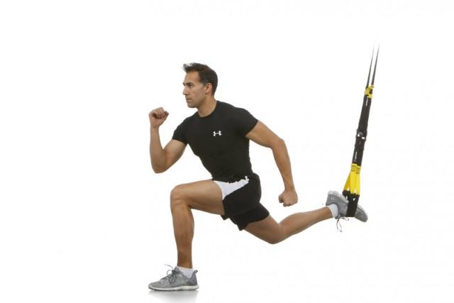 Squat a pierna suspensión