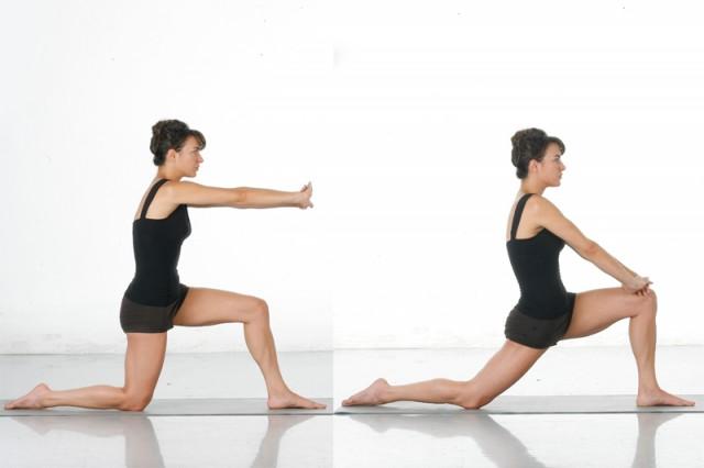 Estiramiento activo parte anterior muslo