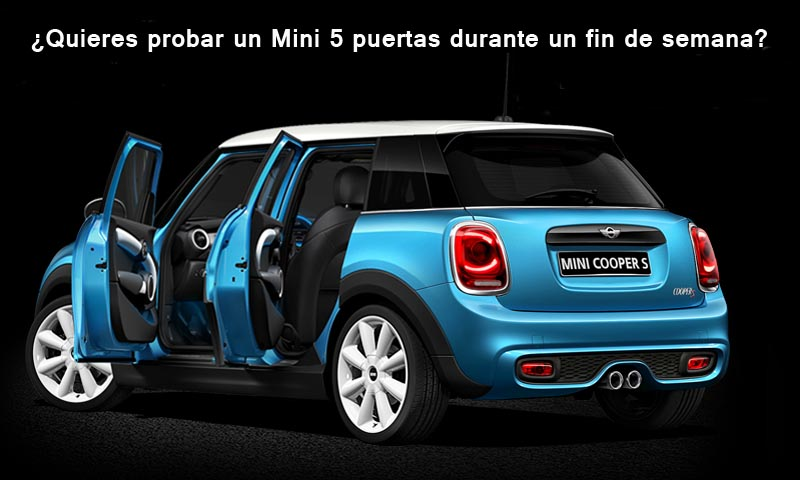 ¿Quieres probar un Mini 5 puertas durante un fin de semana?
