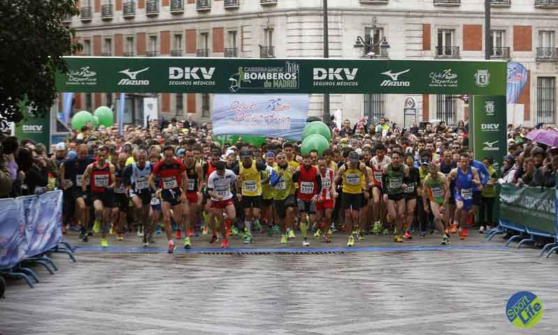 Óscar Martín y Emily Jenkins ganan la IV Carrera DKV Bomberos Madrid