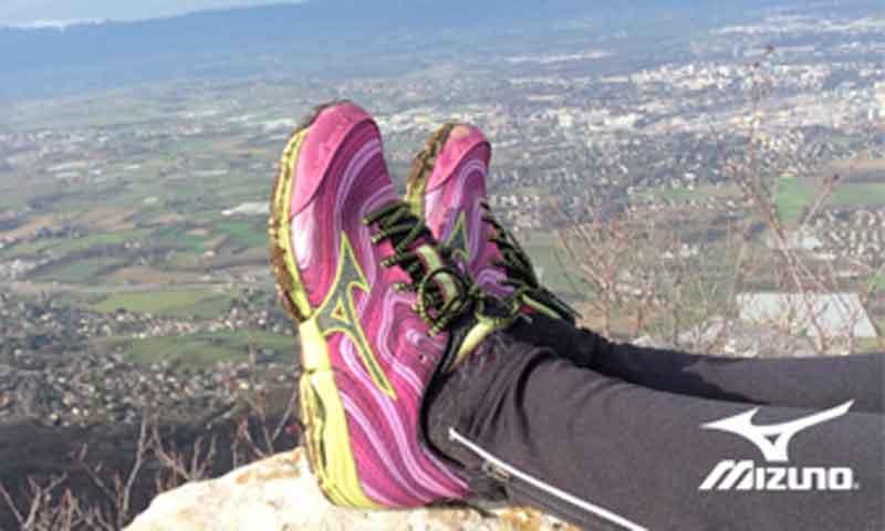 Hazle una foto a tu paisaje favorito y elige unas zapatillas para trail de Mizuno