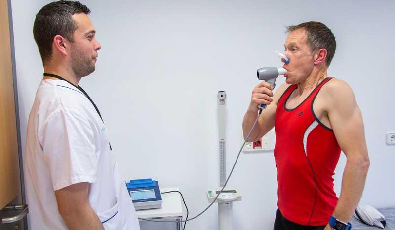 La prueba de esfuerzo del deportista: espirometría