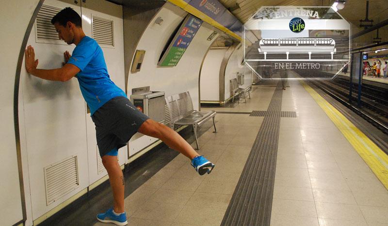 Trabajo de glúteos. ¡Al metro a entrenar!