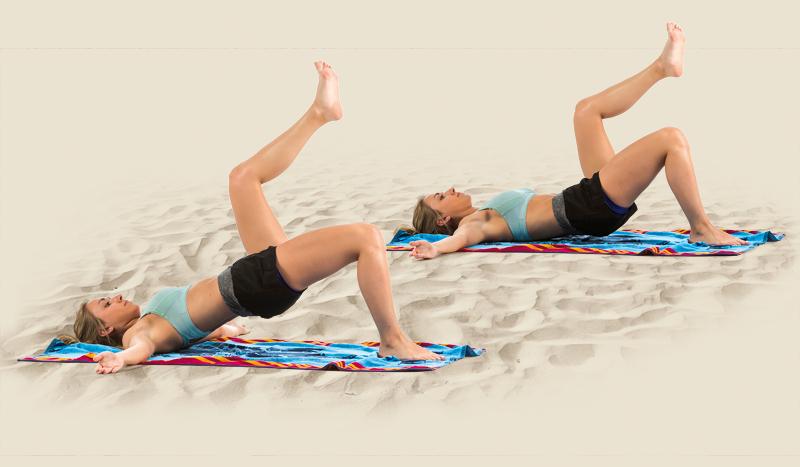 Mantén tu forma en la playa o montaña: ¡Abdominales para llevar!