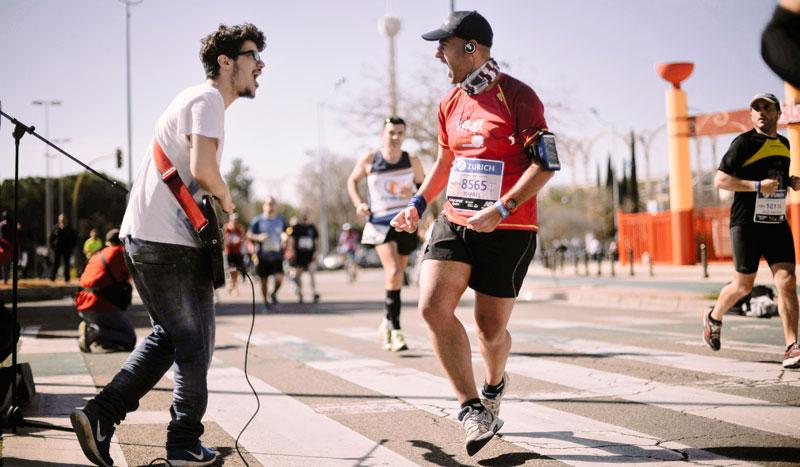 ¿Vienes al maratón de Sevilla?