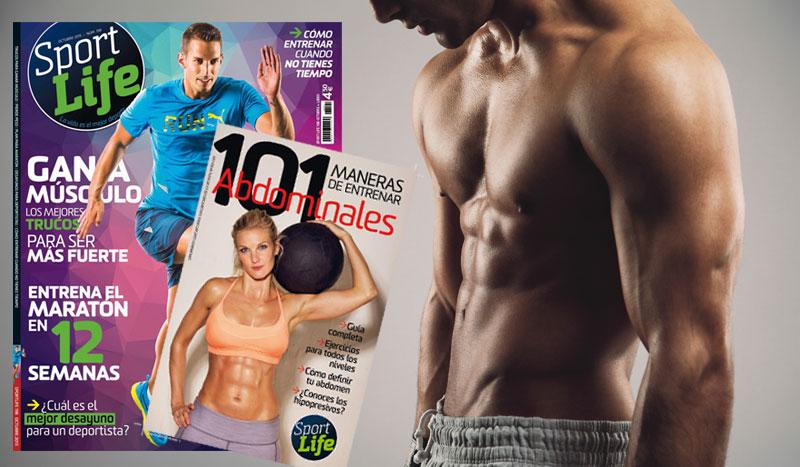Sport Life octubre llega al quiosco con el libro de las 101 maneras de hacer abdominales
