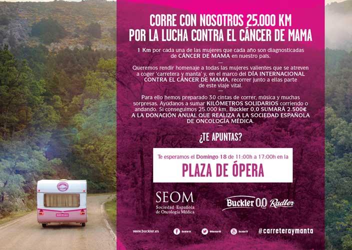 25.000 km solidarios por la lucha contra el cáncer de mama
