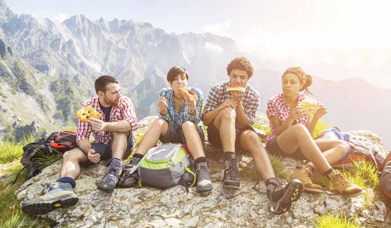 Desayuno para senderistas y montañeros