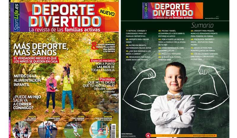 La revista de las familias activas, ¡llega a los quioscos deporte divertido!