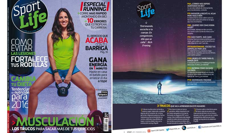Sumario Sport Life 202 febrero 2016