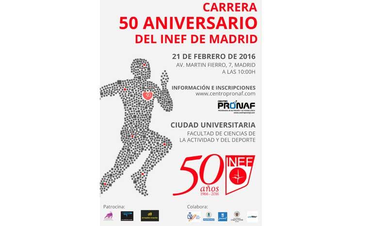 10 km para celebrar el 50 aniversario del INEF de Madrid