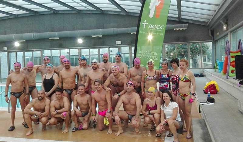 Un auténtico maratón acuático contra el cáncer