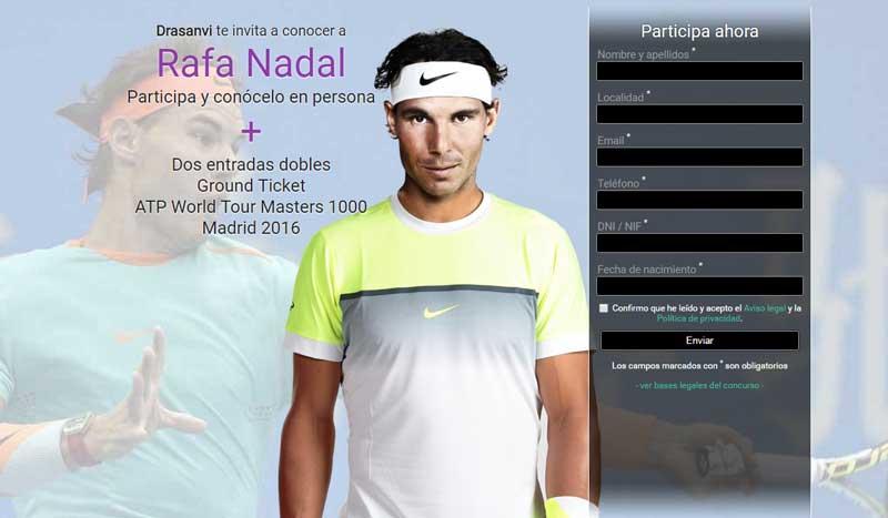 ¿Quieres conocer a Rafa Nadal?