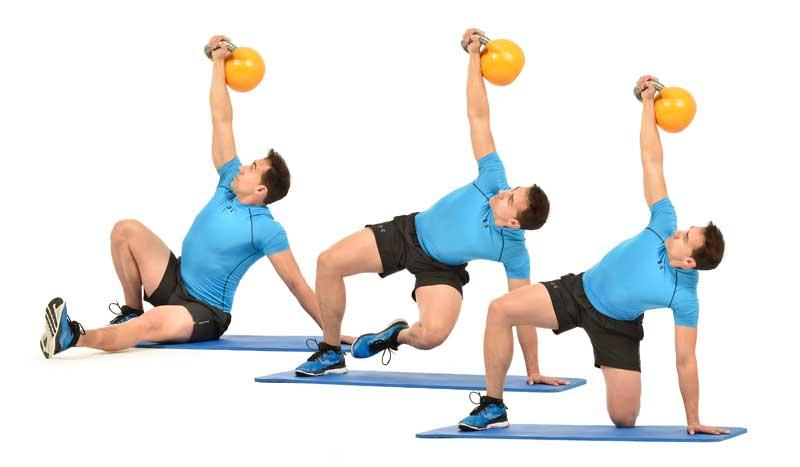Circuito Kettlebell : Entrena con kettlebell abdominales y fuerza sportlife