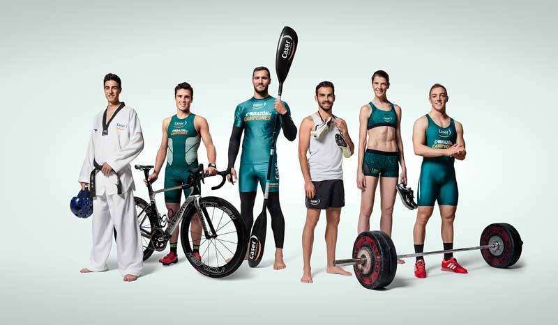 Campeones olímpicos con mucho corazón