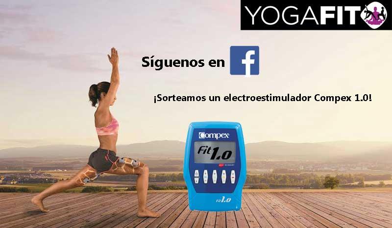 Seguir a YogaFit en Facebook tiene premio... ¡Sorteamos un electroestimulador Compex 1.0!