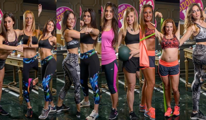 Las diez finalistas del concurso Sport Life Mujer
