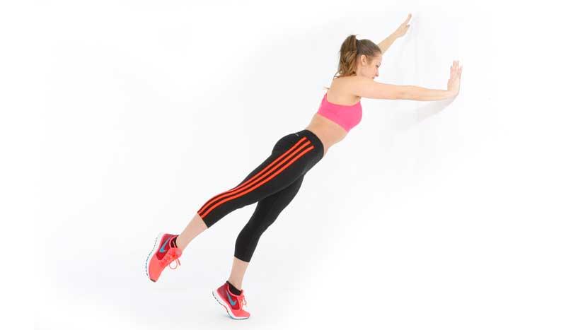 Una pared para entrenar abdominales