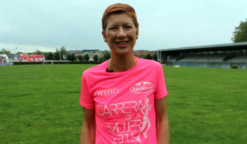 """Entrevista a la corredora Natacha López: """"corro contra el cáncer"""""""
