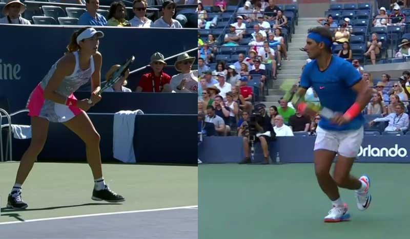 Us Open, ¡los mejores puntos de Rafa Nadal y Garbiñe Muguruza!