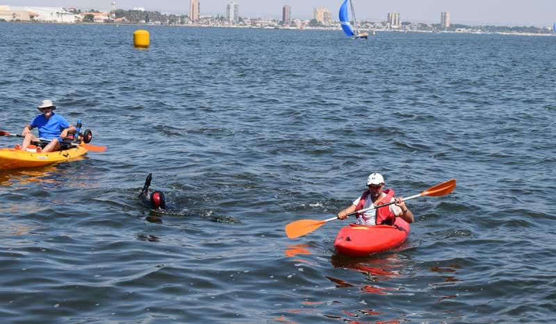 Los casi 5.000 km solidarios a nado (y de espaldas) de Carlos Peña