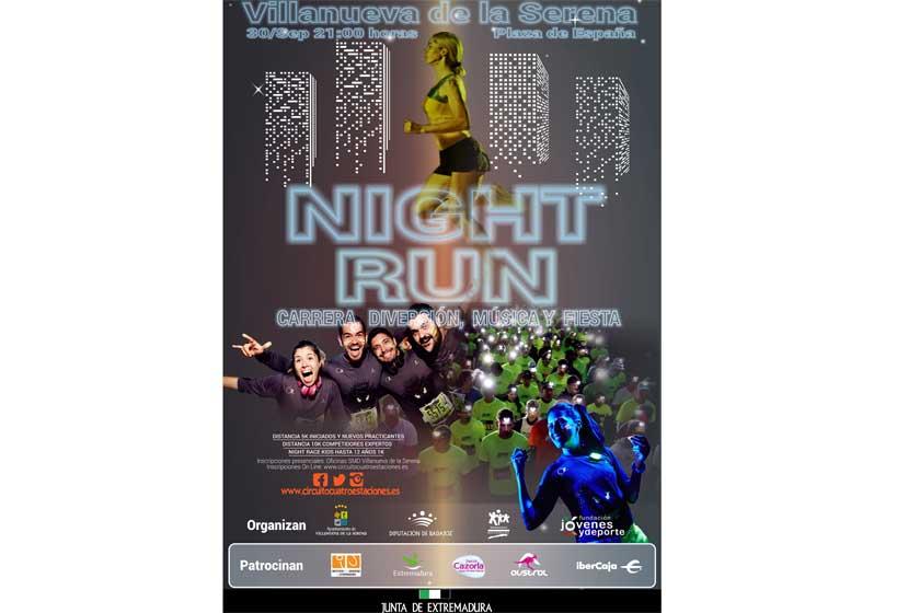 El desafío 4 estaciones empieza con Night Run de Villanueva de la Serena