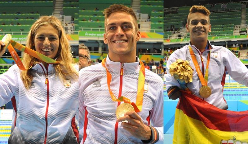 La piscina de Río nos da más alegrías, 3 oros, una plata y un bronce para nuestros nadadores paralímpicos