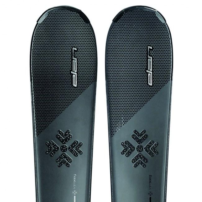 Los esquíes con cristales Swarovski