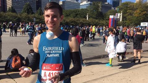 Récord del mundo de maratón haciendo malabares. ¡¡¡2h 55' en los 42 km!!!