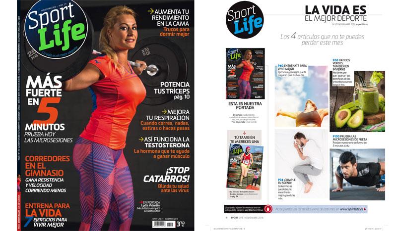 El número de noviembre de Sport Life, ¡con Lydia Valentín en portada!