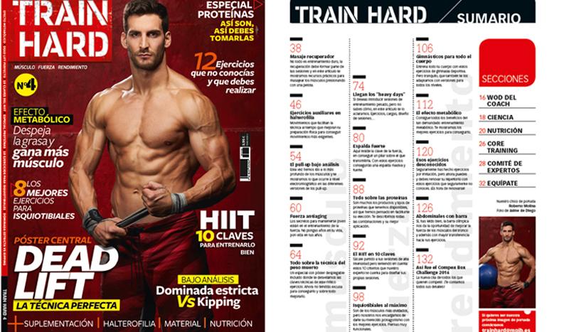 El número 4 de Train Hard ya está en quiosco, ¡hazte con él!