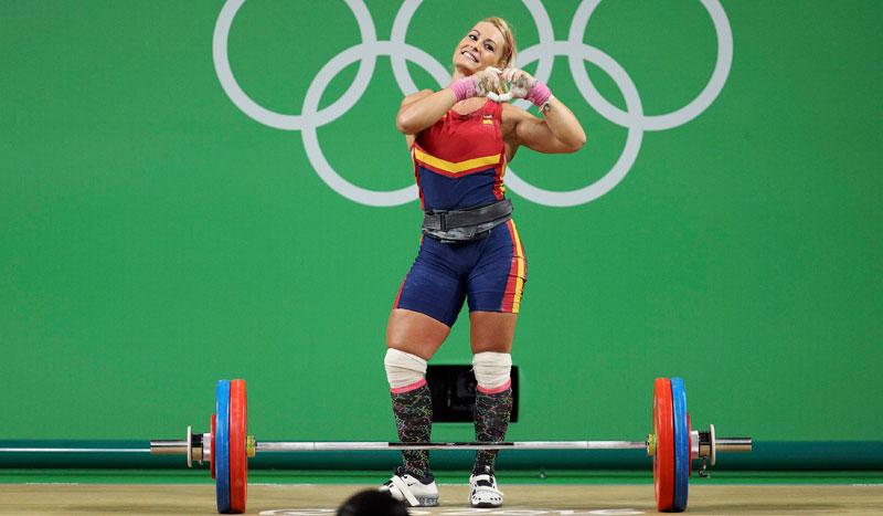 Lydia Valentín, triple medallista olímpica en halterofilia