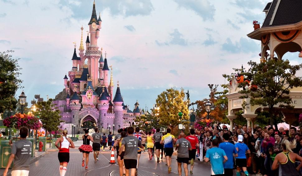 La media maratón de Disneyland Paris