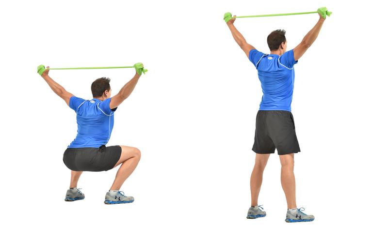 La sentadilla para fortalecer tu espalda, ¡con tensor!