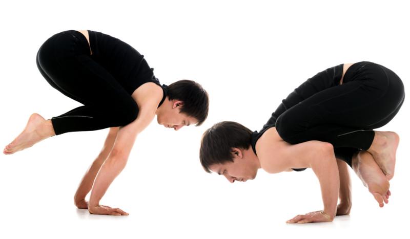 Las diferencias entre las posturas de yoga del cuervo y la grulla