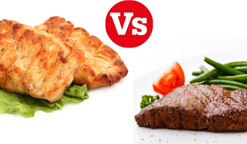 El combate del mes: pollo versus ternera