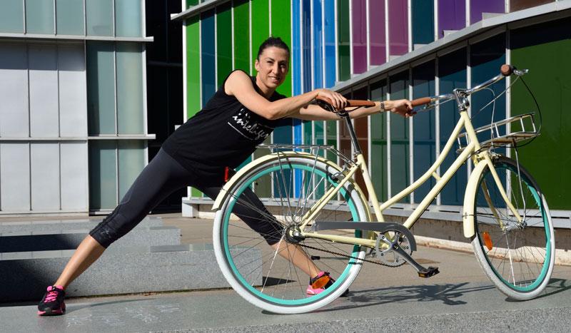 Circuito de estiramientos... ¡con la bici!