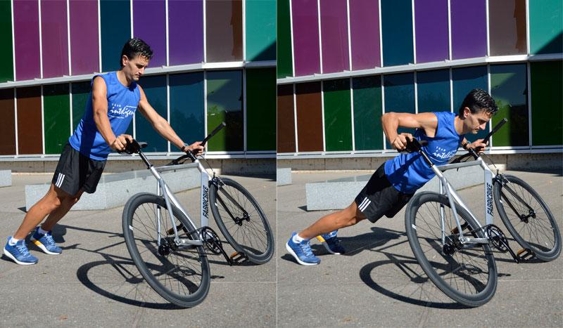 Circuito con la bici para fortalecer brazos